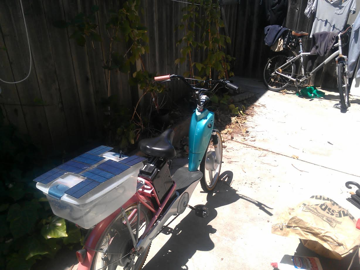 An Inexpensive Solar Ebike