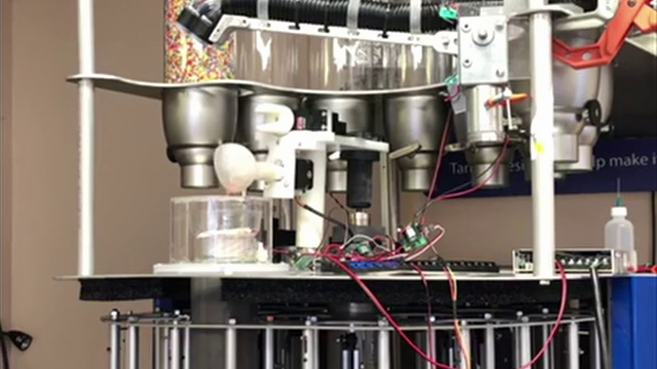 An Automated Ice Cream Dispenser by Robots Everywhere and Tarlow Designs