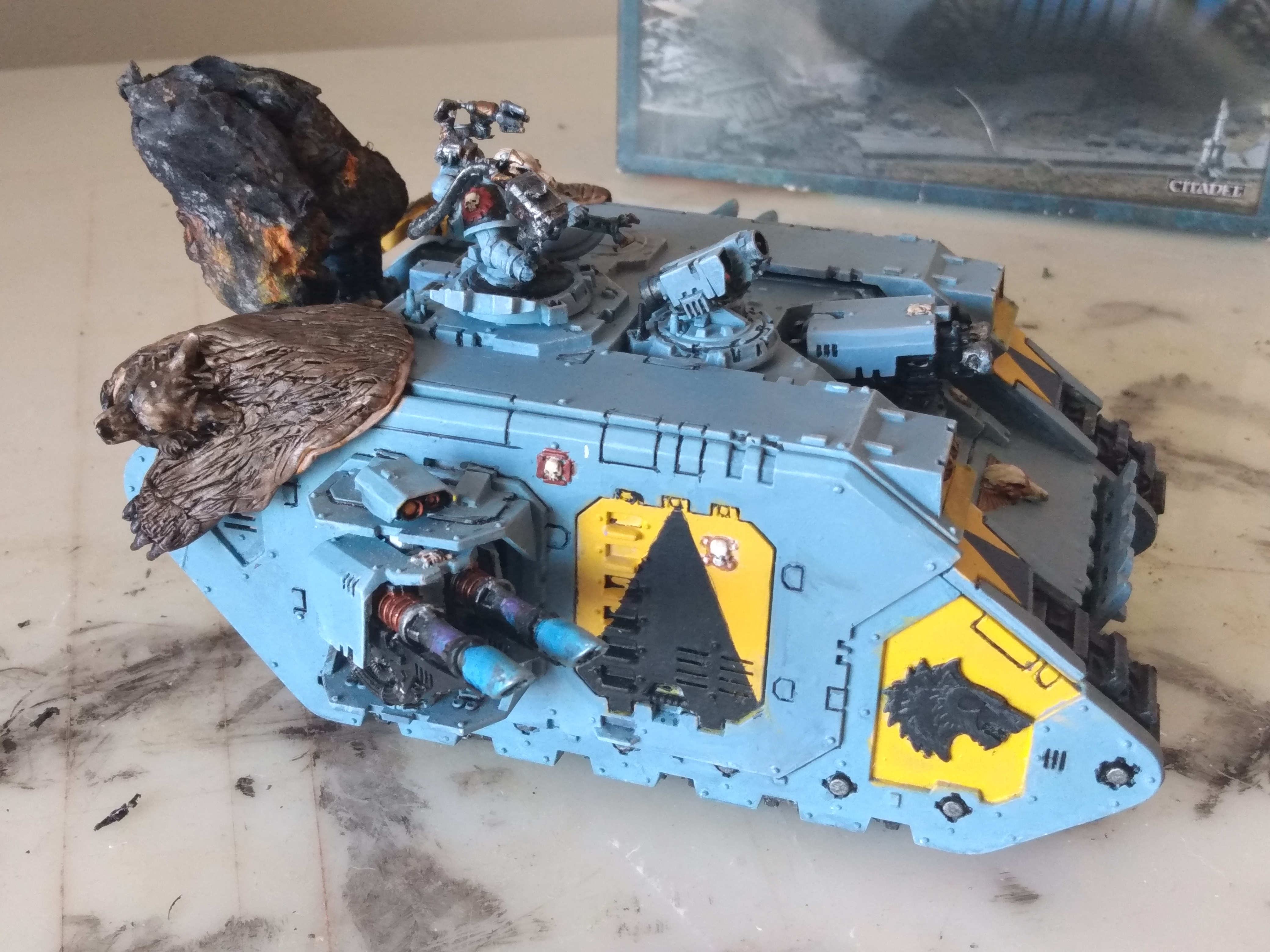 A Warhammer 40k Space Wolves Land Raider - Remote Controlled with FPV