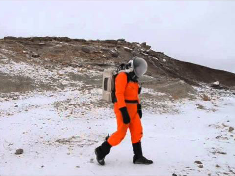 Matteo Borri in a Space Suit at MRDS in Utah